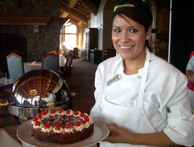 Marisela Sanchez is pastry chef at Snowbasin Resort.