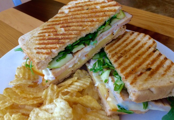 Turkey-Apple panini at Plates & Palates in Bountiful.