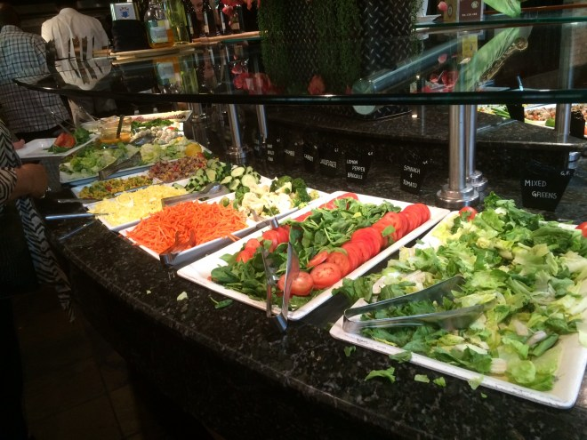 Salad buffet at Rodizio Grill.