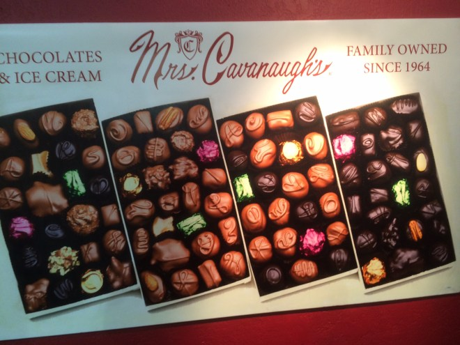 Can you identify the chocolates by the squiggles on the top of them?
