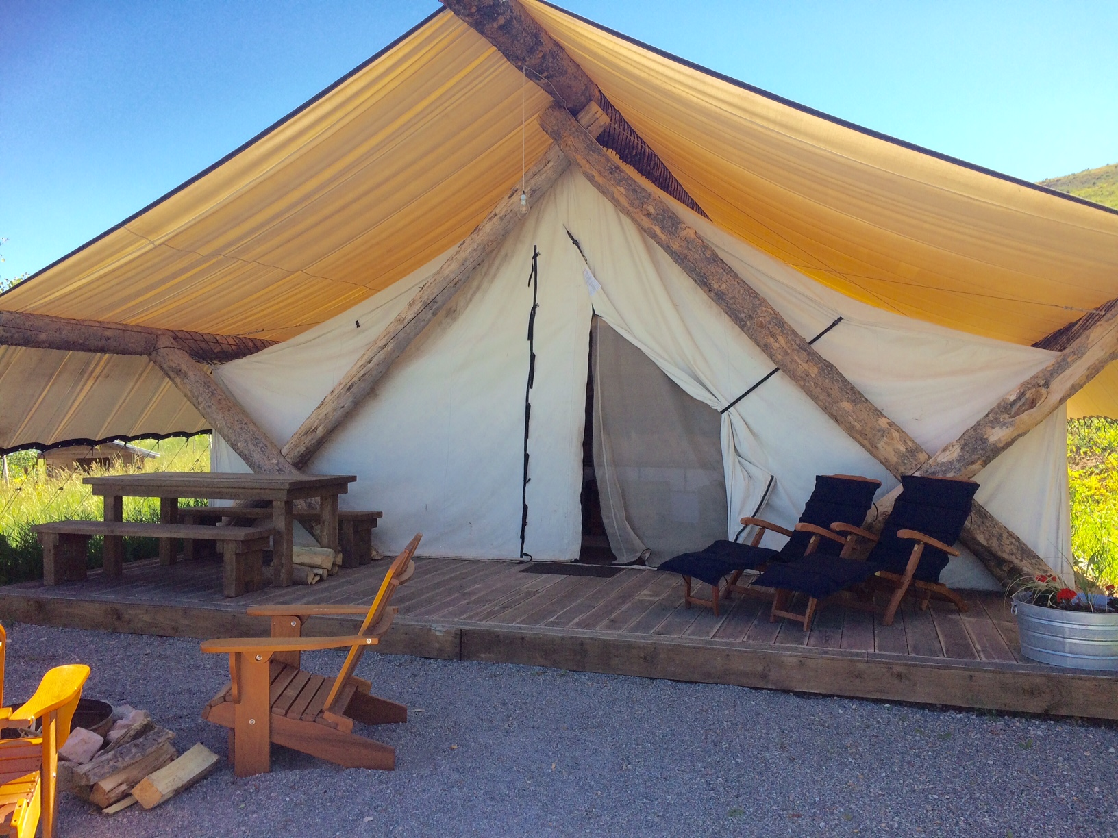 Glamping at the Conestoga Ranch at Bear Lake