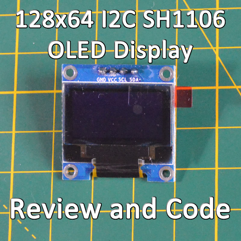 128x64 I2C SH1106 OLED Display Module Screen for Arduino Review and