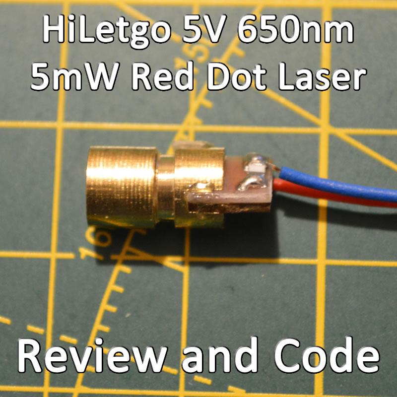 Laser Diode 650nm 5V 5mW Red Dot Beam
