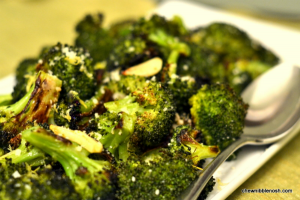 Roasted Broccoli with Lemon and Garlic - Chew Nibble Nosh