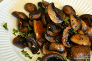 Roasted Mushrooms with Balsamic Garlic and Thyme - Chew Nibble Nosh