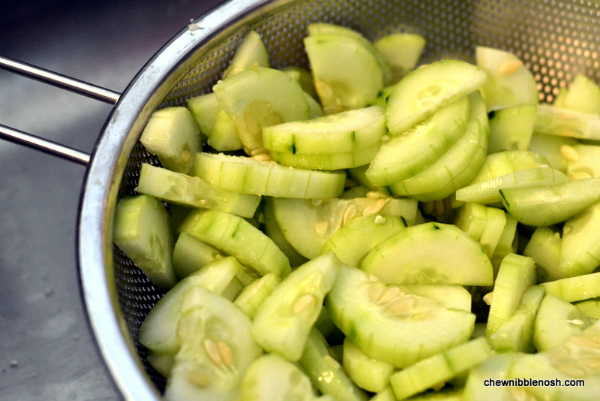 Spicy Cucumber Salad with Peanuts 1 - Chew Nibble Nosh