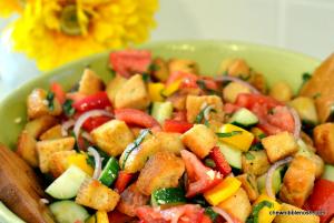 Panzanella Salad - Chew Nibble Nosh