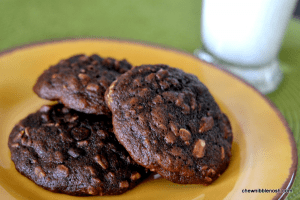 Double Chocolate Banana Cookies - Chew Nibble Nosh