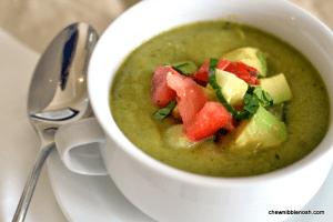Creamy Green Gazpacho - Chew Nibble Nosh
