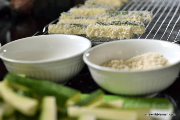 Crunchy Baked Zucchini Sticks 2 - Chew Nibble Nosh