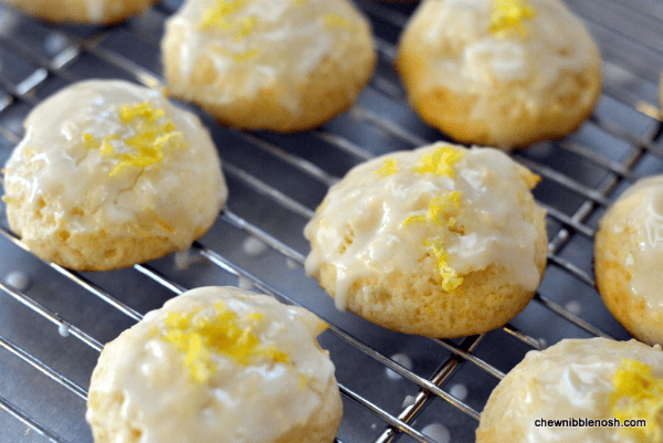 Lemon-Honey Drop Cookies - Recipe at Chew Nibble Nosh