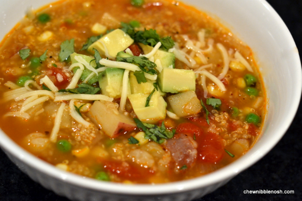 Slow Cooker Quinoa and Vegetable Stew - Chew Nibble Nosh
