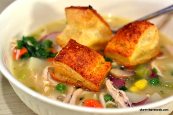 Chicken Pot Pie Soup - Chew Nibble Nosh