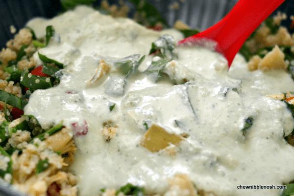 Cheesy Greek-Style Baked Quinoa 3 -Chew Nibble Nosh