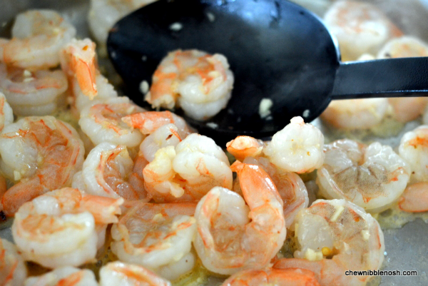 Skinny Shrimp Scampi with Zucchini Noodles 2 - Chew Nibble Nosh