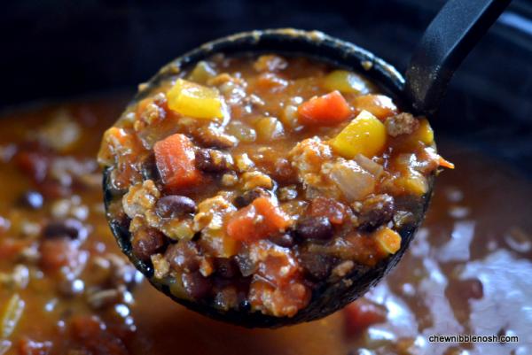 Black Bean & Pumpkin Chili 4 - Chew Nibble Nosh