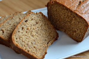 Peanut Butter Banana Bread - Chew Nibble Nosh