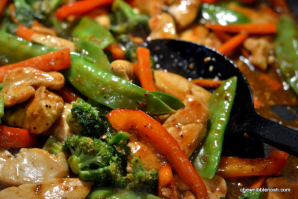 Sesame Chicken Stir Fry - Cooking with McCormick Skillet Sauces 5 - Chew Nibble Nosh