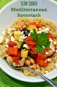 Slow Cooker Mediterranean Succotash