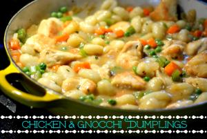 Chicken & Gnocchi Dumplings - Chew Nibble Nosh