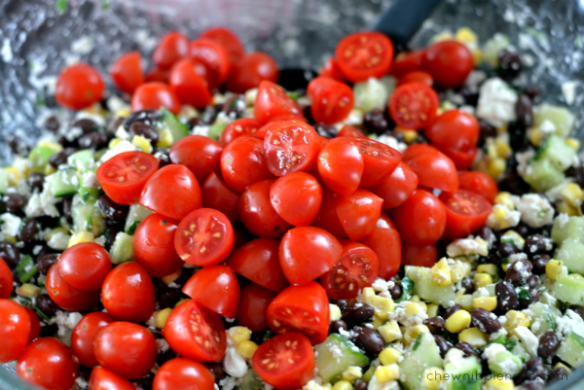 Chilled Summer Veggie Salad - Chew Nibble Nosh 3