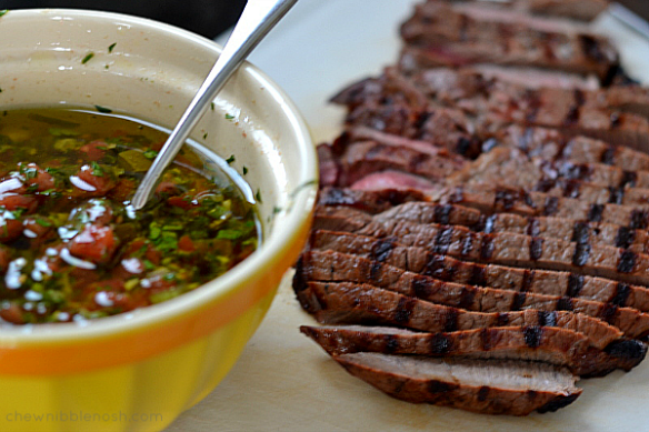 Grilled Steak with Chimichurri Sauce - Chew Nibble Nosh 3