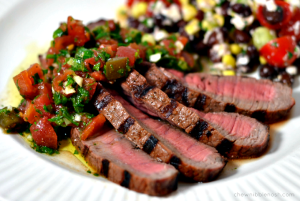Grilled Steak with Chimichurri Sauce - Chew Nibble Nosh.