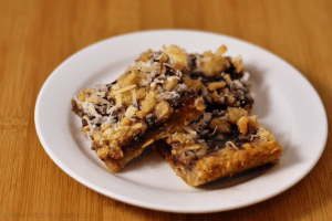 Oatmeal Coconut Raspberry Bars - Chew Nibble Nosh