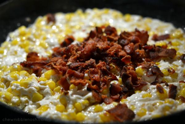 Cheesy Bacon and Corn Stuffed Zucchini - Chew Nibble Nosh 4