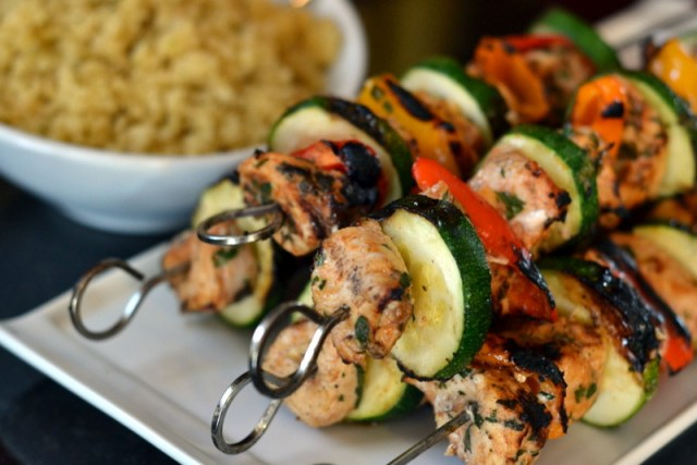 Moroccan Chicken Kebabs - Chew Nibble Nosh