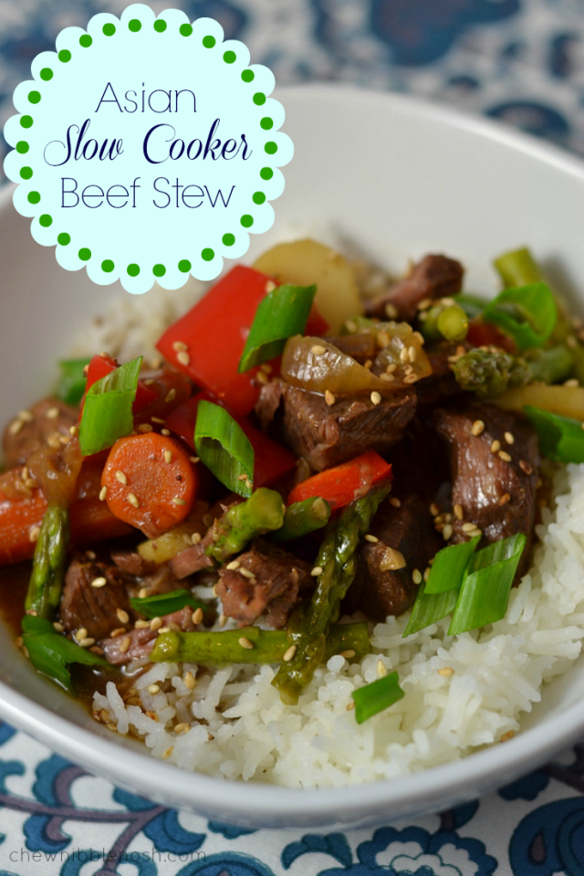 Asian Slow Cooker Beef Stew - Chew Nibble Nosh