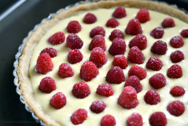Simple Raspberry Cream Tart - Chew Nibble Nosh 3