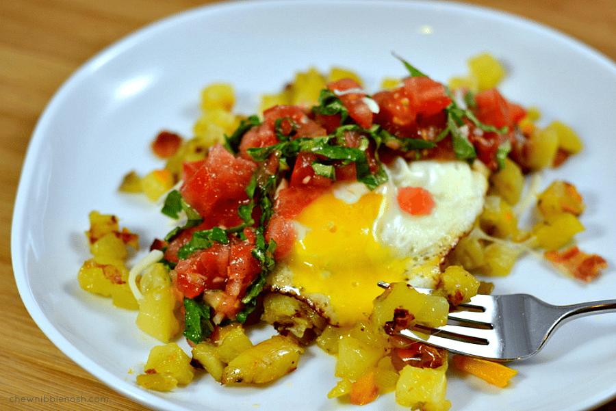 Italian Bruschetta Potato Hash AND a Hamilton Beach Pro Giveaway!