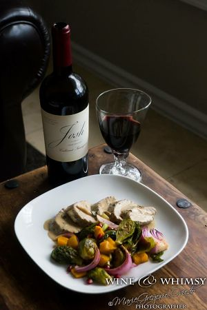 Wine & Whimsy Pork Tenderloin Cast Meal