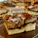 Cinnamon Coffee Cake   Brown sugar & cinnamon swirled through the middle of this sweet breakfast treat with Greek yogurt mixed in to form a thick dough that bakes up reminiscent of a cinnamon roll!