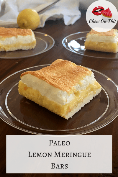 Paleo Lemon Meringue