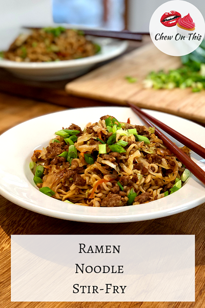 Quick, easy and delicious...this pork stir fry really elevates those ramen noodles!