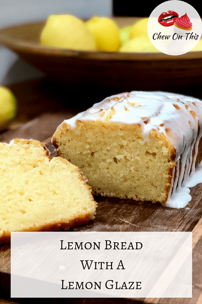 Lemon Bread | Quick bread is a great treat and this lemon bread is easy, tasty and hubby approved!