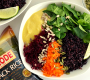 Black Rice Bowl with Spring Veggies