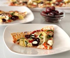 Feta Artichoke Flatbread Pizza