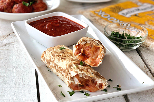 Meatball Mozzarella Wraps