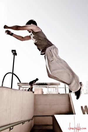 parkour salto