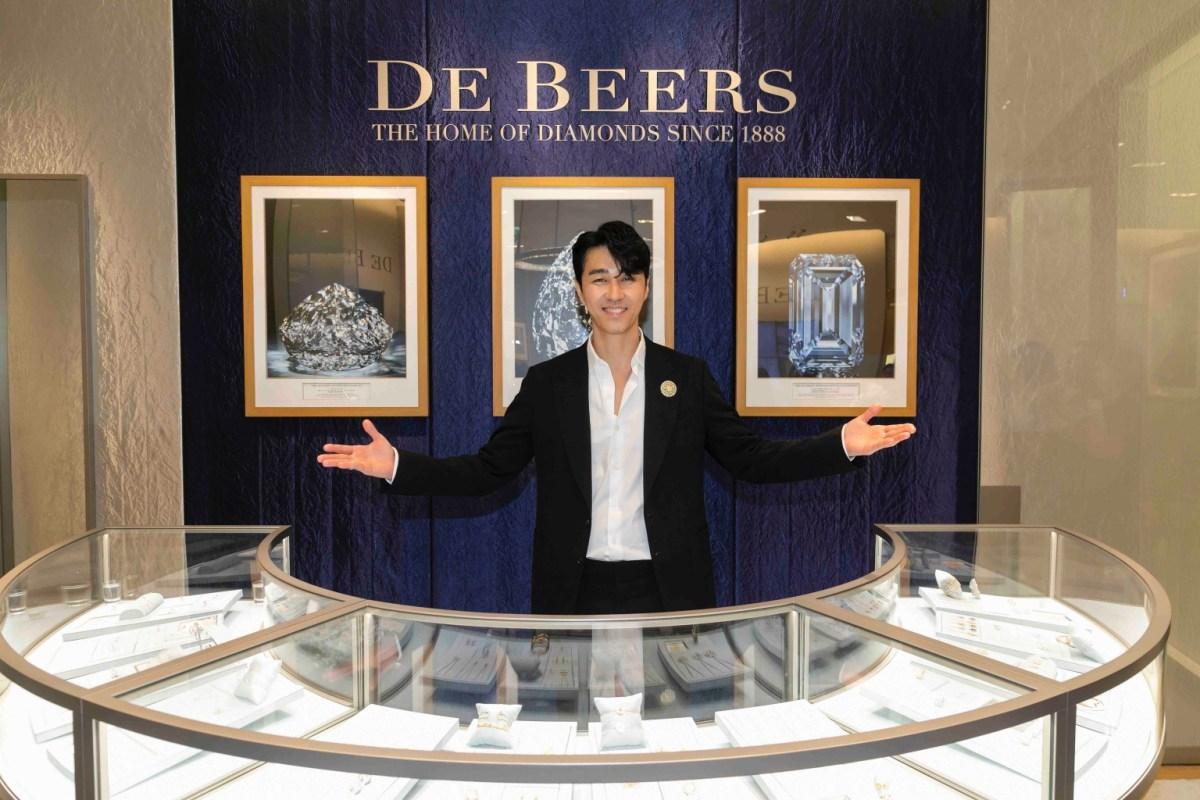 韓國男神車勝元出席de Beers台北101精品店開幕暨頂級珠寶展