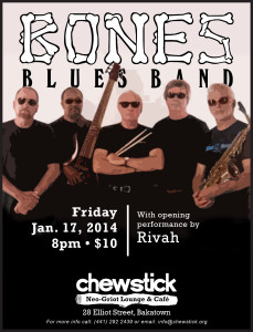 Bones Blues Band with opening act Rivah