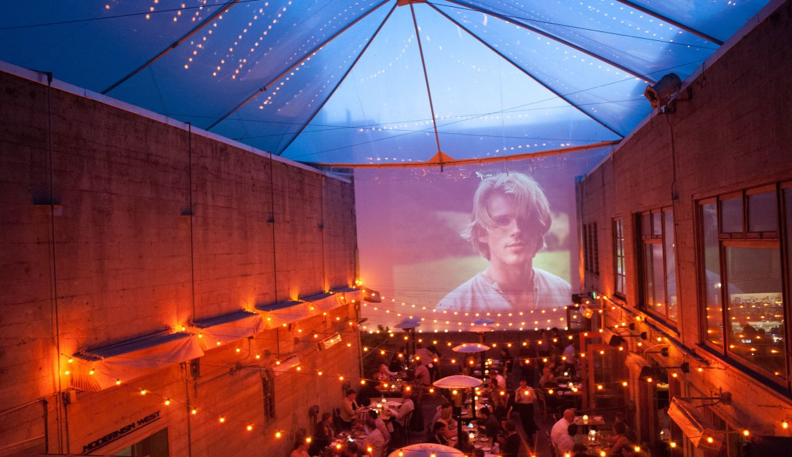 Movie night under the stars. Photo by: Foreign Cinema.