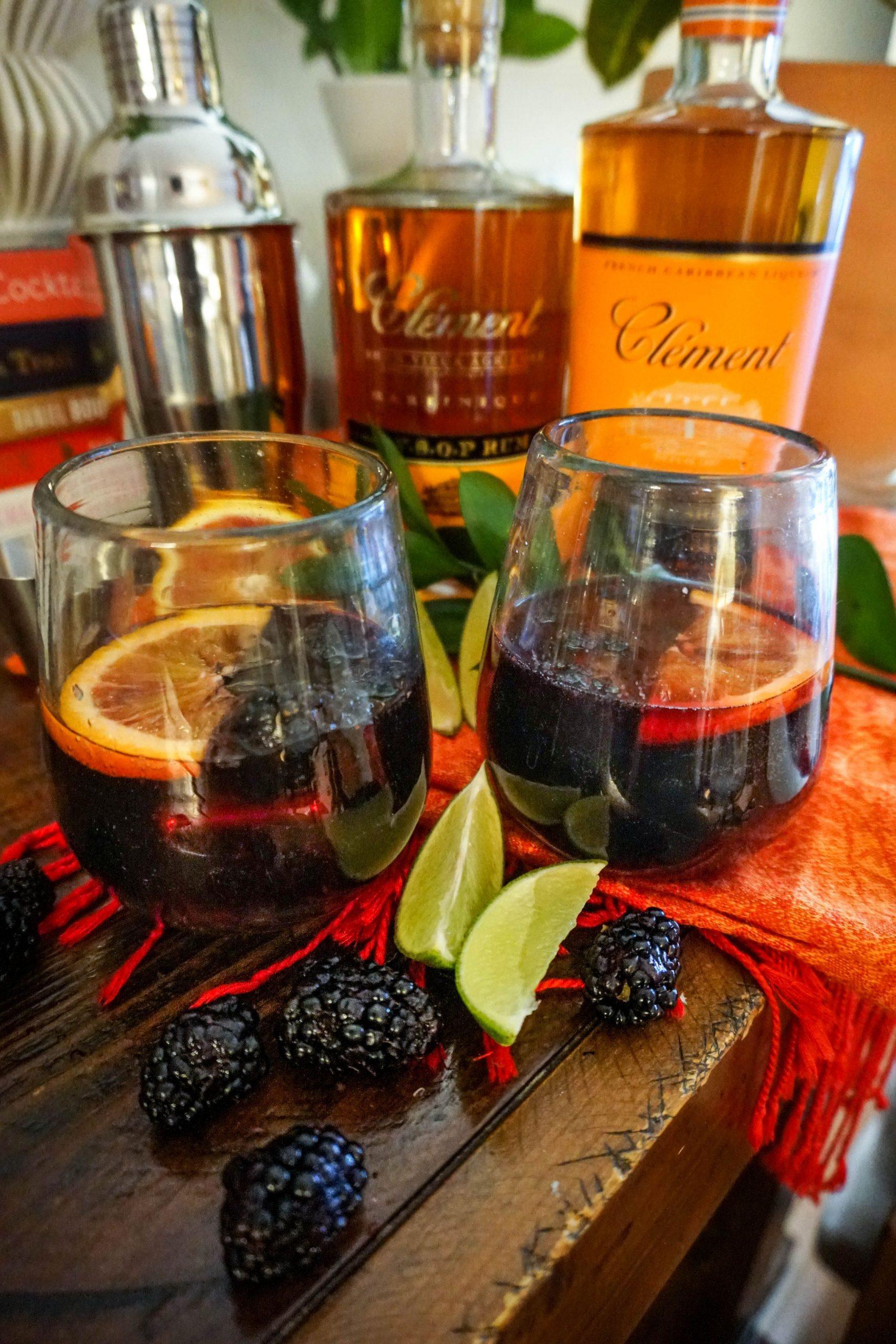 Blood Orange Blackberry Rum Punch