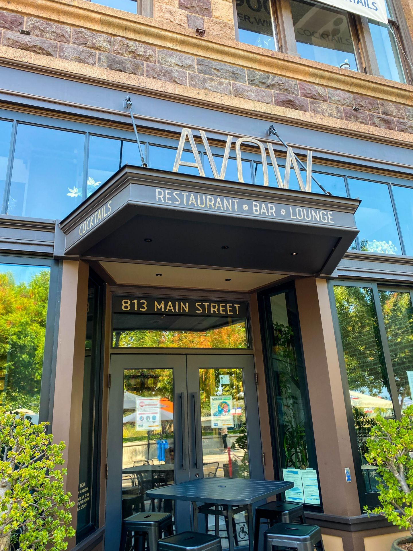 Dining at AVOW in Downtown Napa Valley.