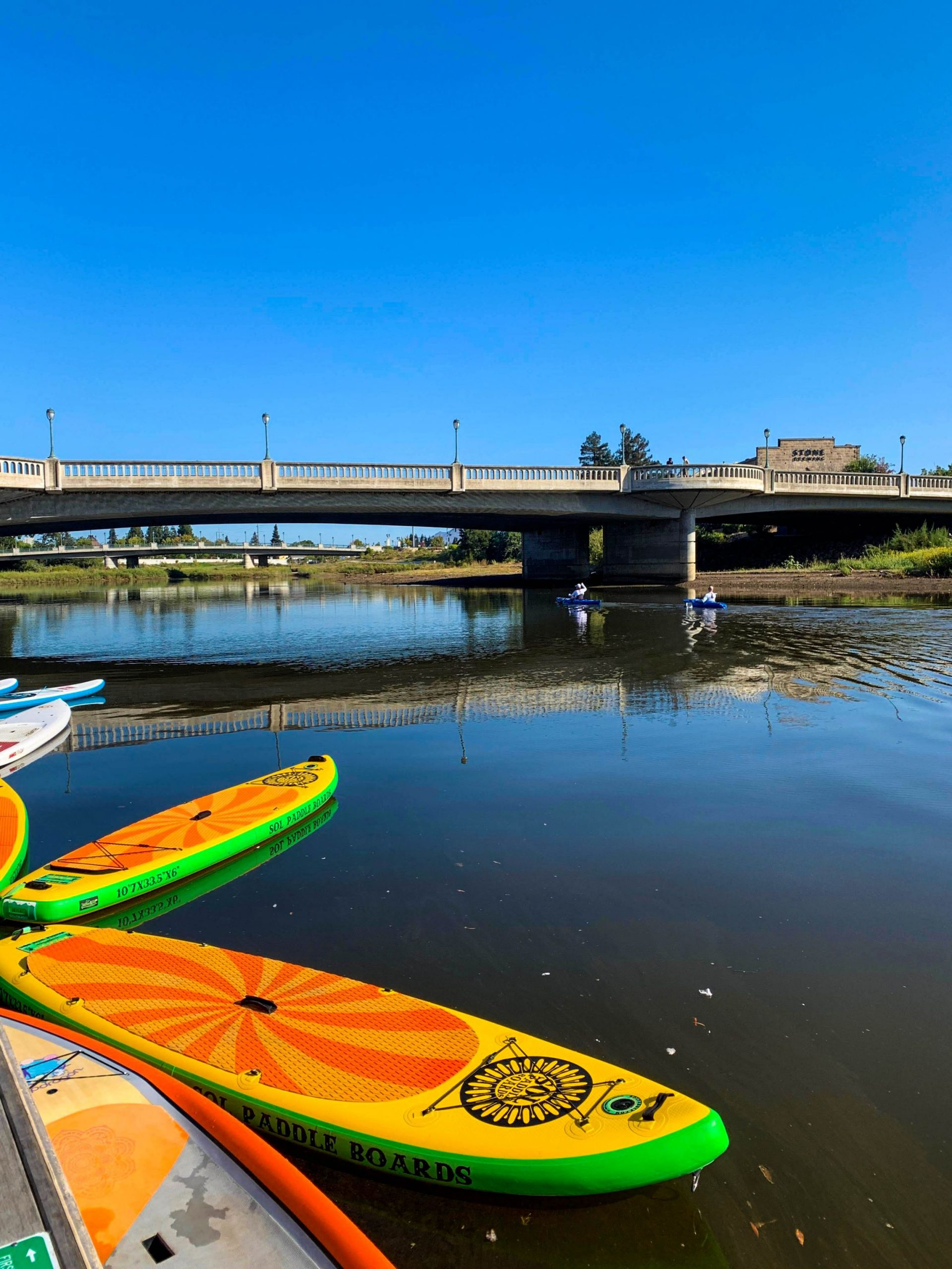Rent a kayak or stand up paddle board and jump on the Napa Valley River.