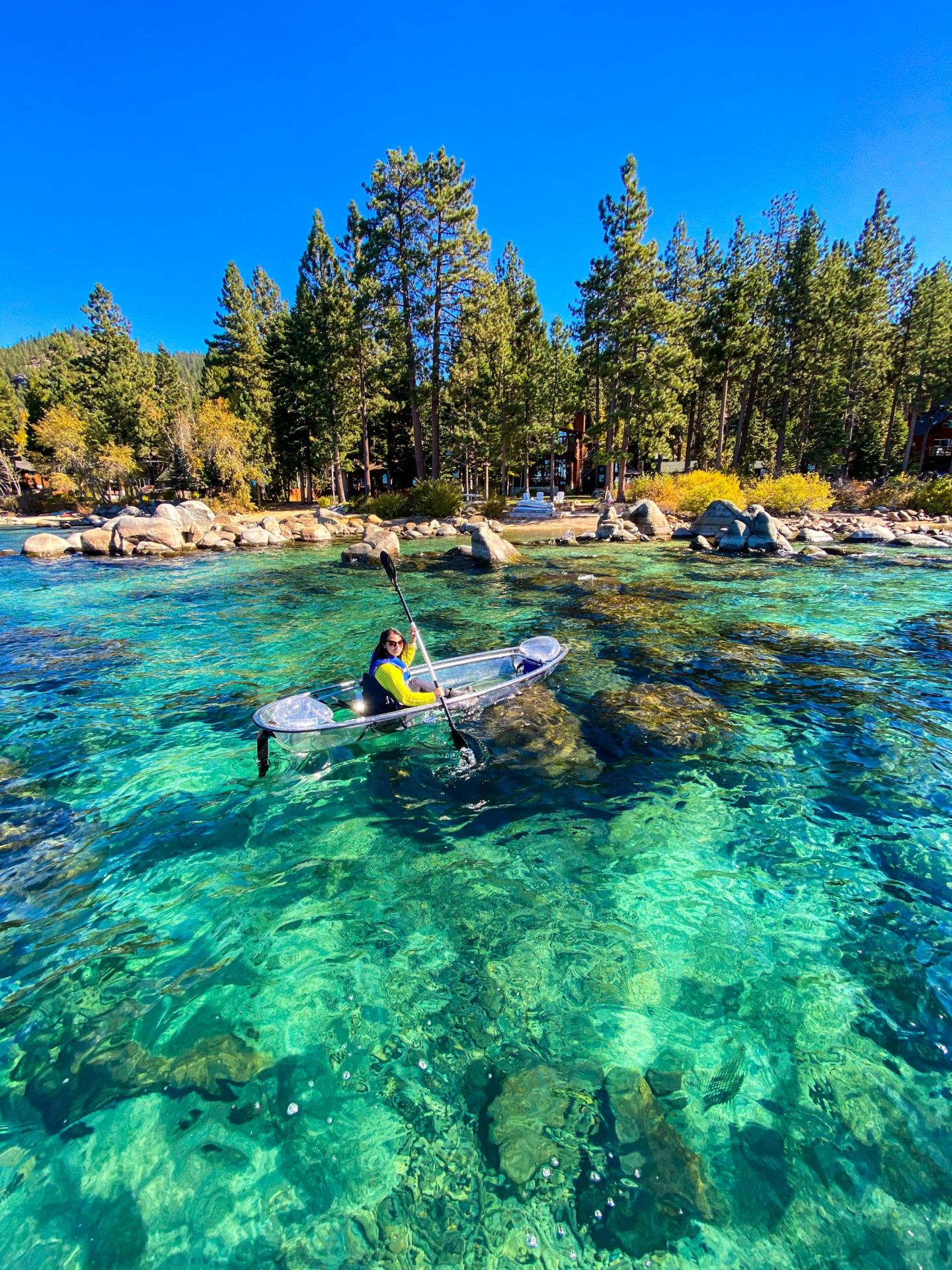 The color of Lake Tahoe is so blue!