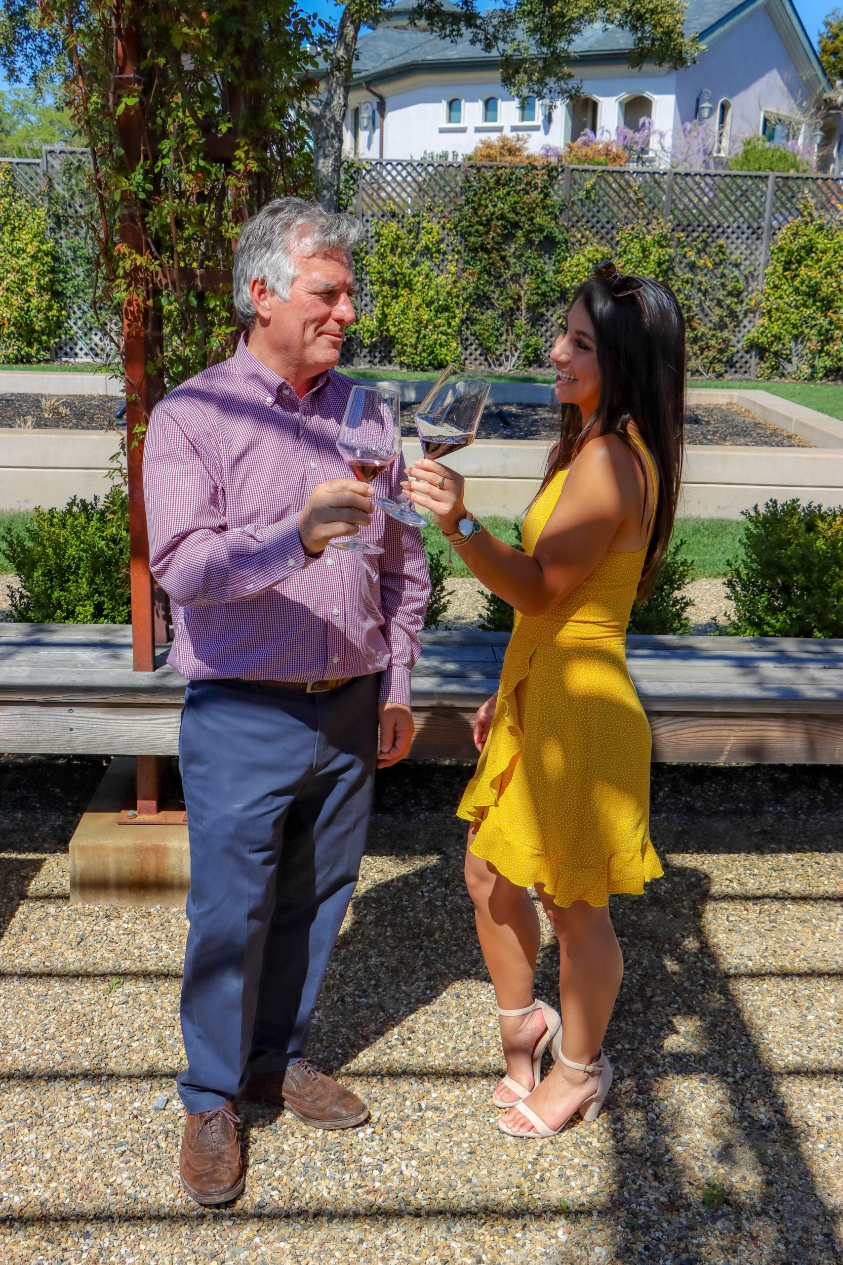 Wine tasting and food pairing at Bricoleur in Sonoma County.